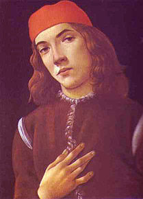 Botticelli, Portrait of a Florentine Youth