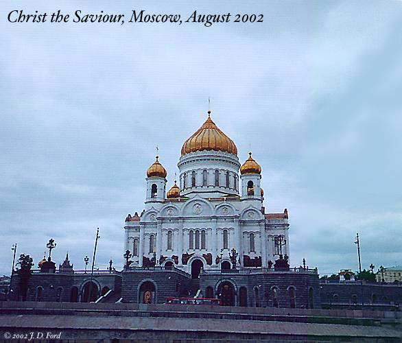 Moscow, Christ the Saviour:  View from the Moskva River