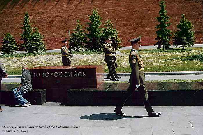 Moscow:  Honor Guard at Tomb of the Unknown Soldier