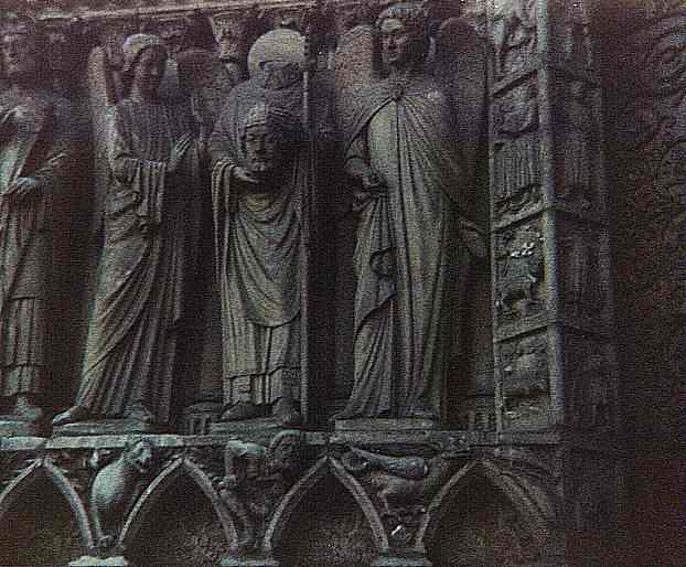 Paris:  Sculptural Detail of St. Denis, Notre Dame