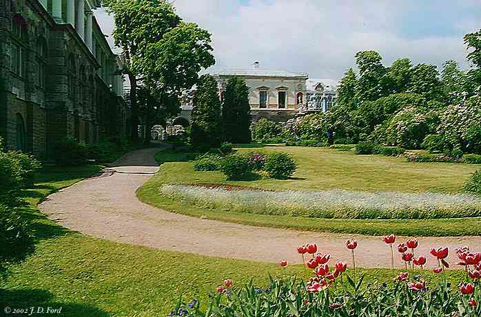 Tsarkoye Selo:  Garden Near the Cameron Gallery