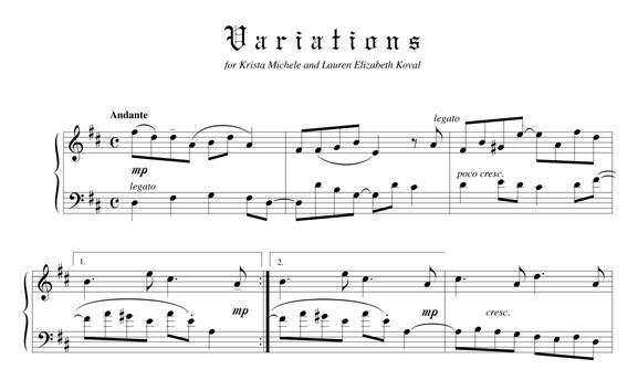 Variations on an Original Theme